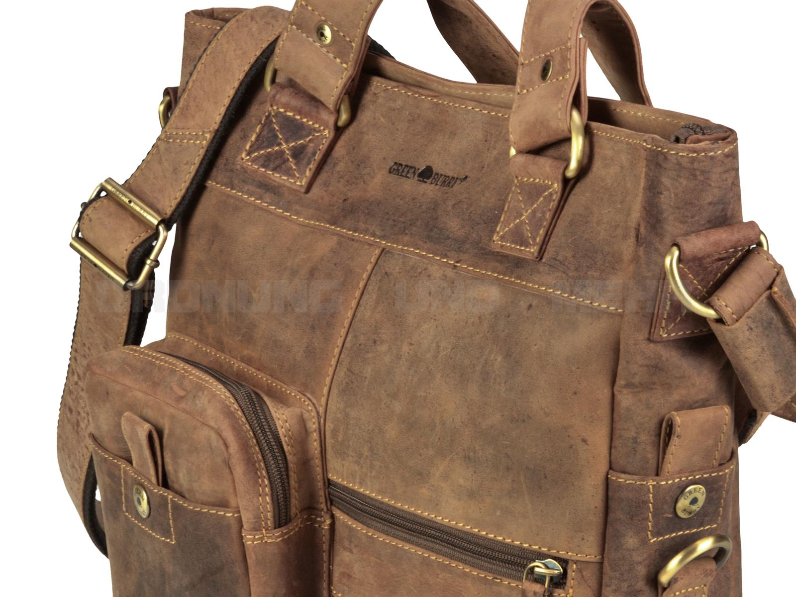 Greenburry Ledertasche in antikbraun mit dem einmaligen Vintage Look