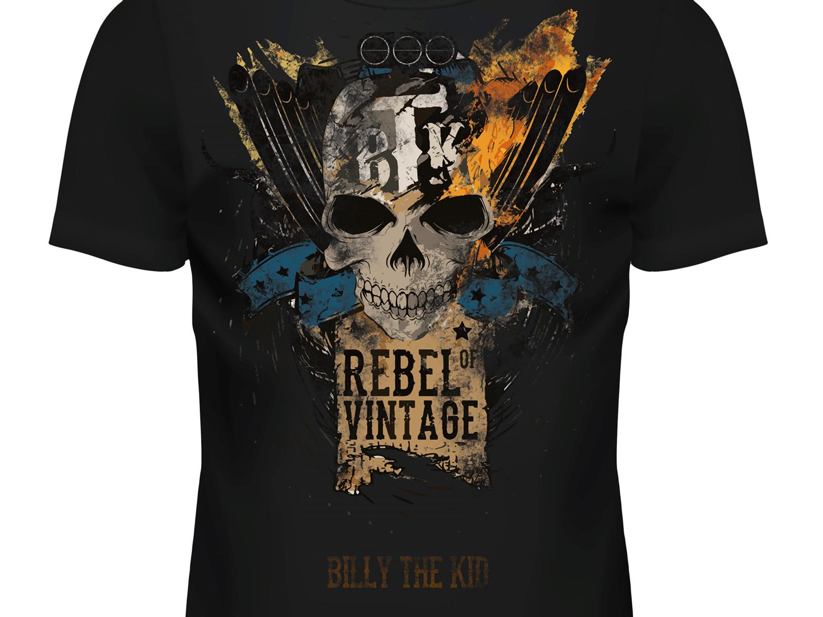 Skull Rebel of Vintage Shirt für Herren