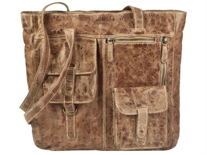 Billy the Kid Shopper Leder Tasche Damentasche Handtasche M406 in dust jetzt super günstig im SALE