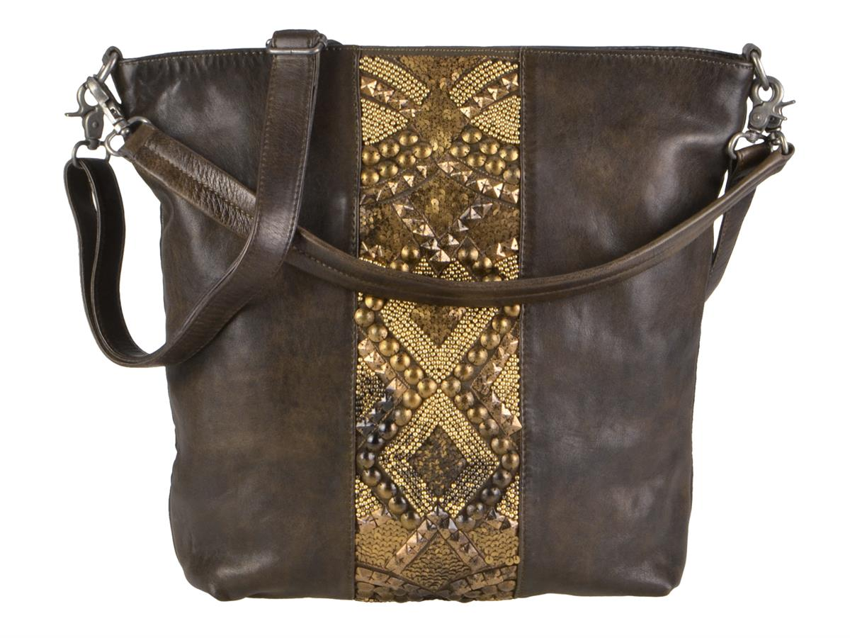 Billy the Kid Leder Handtasche Shopper AARI in Nappa oliv