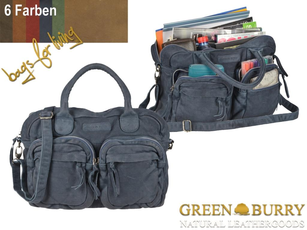 Greenburry Taschenserie Drum Washed in 6 Farben
