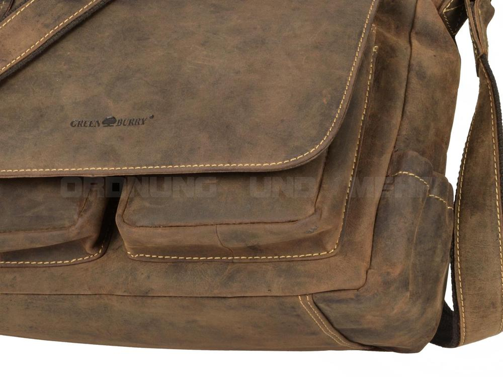 Greenburry Fishingbag Vintage in sattelbraun 1763A