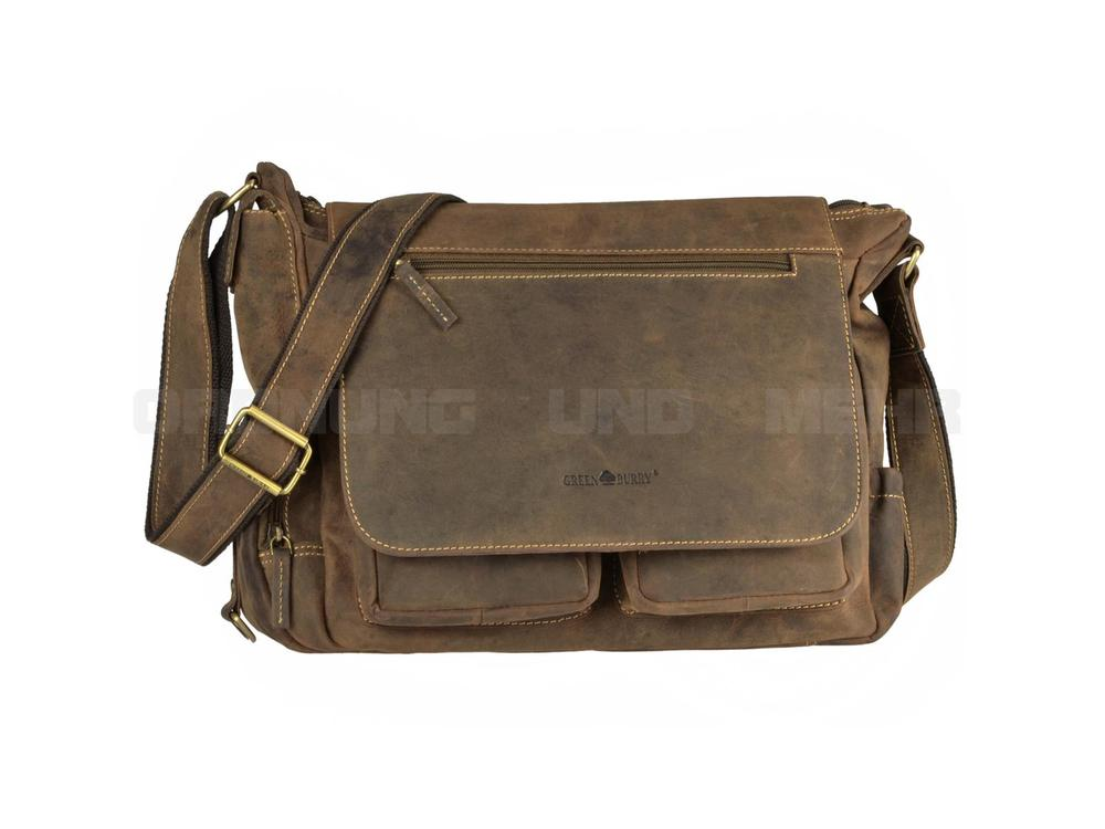 Greenburry Ledertasche Fishingbag Vintage 1763A